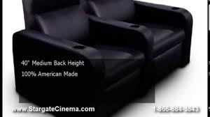 fortress californian home theater seat by stargate cinema youtube