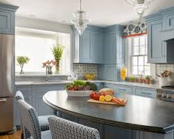 houzz blue kitchen cabinets beautiful blue cabinets bring warmth and character to these