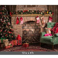 christmas backdrop christmas great room printed backdrop backdrop express