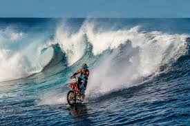 what is a motocross bike surfing on a dirt bike because everything else is too easy the