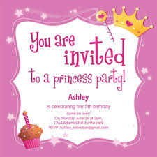 princess birthday invitations template resume builder