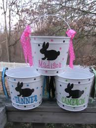 monogrammed easter buckets personalized easter baskets personalized easter baskets diy ezpass