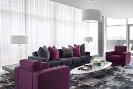 Purple Curtains Living Room Grey Purple Dining Room Contemporary With Grey Wall