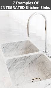 kitchen design idea seamless kitchen sinks integrated into the