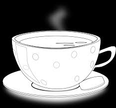 food cup of tea coloring book colouring sheet coloring book