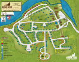 Mohegan Sun Map Campground Map Hidden Acres Campground Campsites