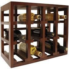 vinotemp 12 bottle stackable wooden wine rack brown ep stack12