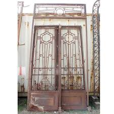 colonial deco wrought iron door gates with