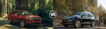 compare honda pilot and ford explorer compare 2017 ford explorer vs honda pilot