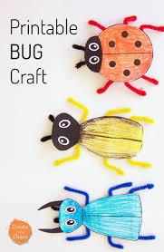 printable bug craft kid activities free printable and pipes