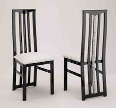 chaise noir et blanc chaise de sejour cromo laque bicolore noir blanc