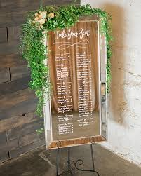 Chair Rental Denver Wedding Signage Hand Lettered Mirror Seating Chart With Leafy
