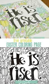 he is risen coloring page free printable at u create free