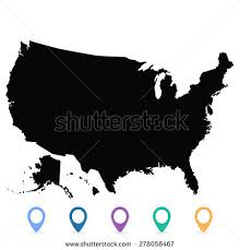 united states map vector usa map vector us map vector stock vector 278058467