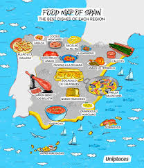 The Map Of Spain by Infographic Regional Food Maps Of Europe Eat Your World Blog
