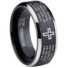mens spinner rings oliveti black titanium men s lord s prayer spinner ring free