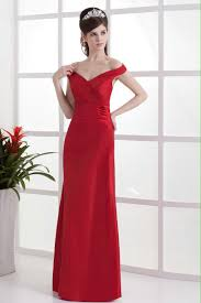 buy cheap off shoulder sheath red bridesmaid dress for 2013