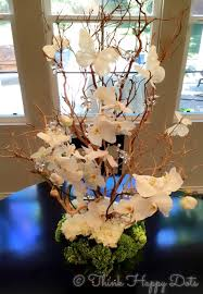 manzanita tree centerpiece large orchid and manzanita tree centerpiece