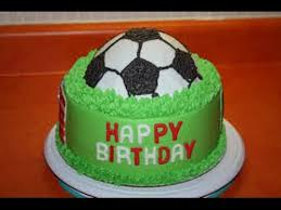 make at home football cake how to make recipe birthday cakes