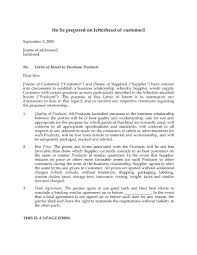 letter of intent to purchase products legal forms and business