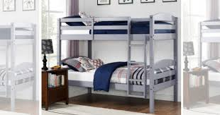 Bunk Bed Sets Hurry Wood Bunk Bed Set Two Mattresses Only 189 Shipped