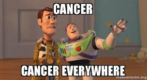 Cancer Meme - cancer cancer everywhere cancer make a meme