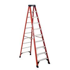 werner 20 ft fiberglass twin step ladder with 300 lb load