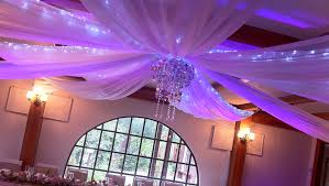 ceiling draping for weddings wedding decorations ceiling drapes wedding services