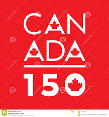 canada flag anniversary 150 years stock illustration image