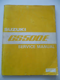 genuine suzuki gs500e gs500 e workshop service repair manual book