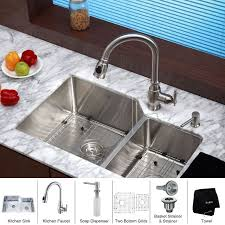 Kitchen Faucet Placement Faucet Khu123 32 Kpf2150 Sd20 In Stainless Steel By Kraus