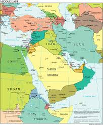 middle east map india the world factbook