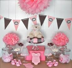 teddy baby shower decorations baby shower ideas for pink tissue paper pompom teddy