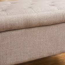 Grey Fabric Storage Ottoman Beautiful Plush Storage Ottoman With Living Room Grey Fabric