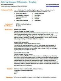 catering manager resume catering manager cv example learnist org