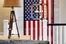 american flags and other vintage patriotic decor are trends in