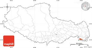 blank simple map of xizang zizhiqu tibet cropped outside no labels