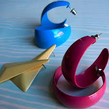 eighties earrings 80s 90s earrings i had the pink ones in a sizes wore a
