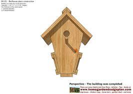 Construction House Plans Bh101 Bird House Plans Construction Bird House Design How To Build