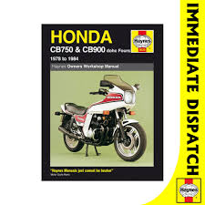 0535 honda cb750 cb900 dohc fours 1978 84 haynes workshop manual
