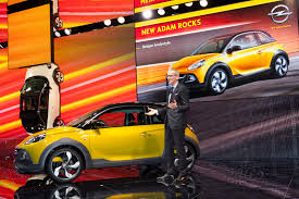 opel adam yellow adams are all over the place at opel u0027s geneva motor show booth w