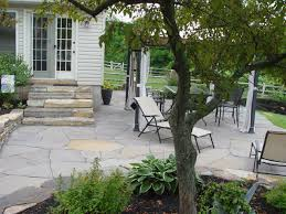 Pea Gravel Concrete Patio by Flagstone What To Use Sand Cement Or Gravel Devine Escapes