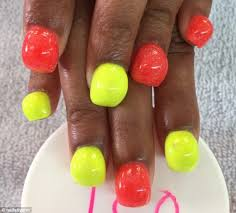 bubble nails craze sees women pile acrylic onto their talons to