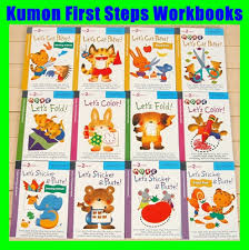 qoo10 sale full set 12 books kumon first steps workbooks for