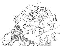 wolverine vs venom sketch by joeyvazquez on deviantart