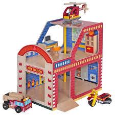 houten brandweer kazerne mentari 3252 xl speelgoed