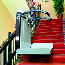handicapped platform stair lift inclined rotating outdoor
