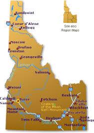 map of idaho idaho map go northwest a travel guide