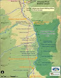 Colorado Mountain Map by Rafting The Arkansas Browns Canyon Colorado A Whitewater Adventure