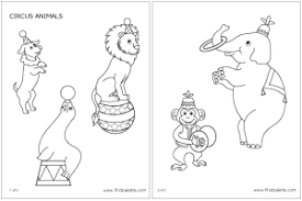 circus animals printable templates u0026 coloring pages